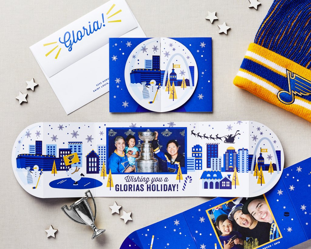 holiday card for blues fans