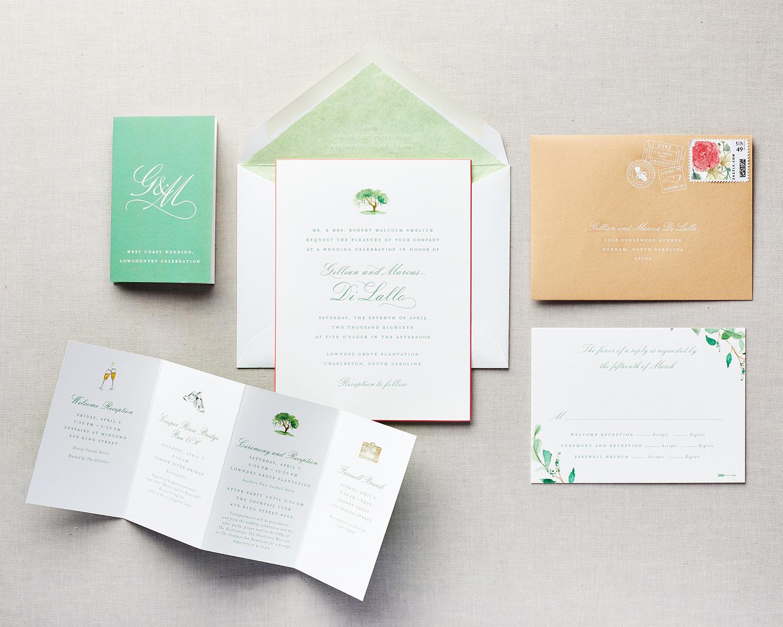 subtle watercolor wedding invitation