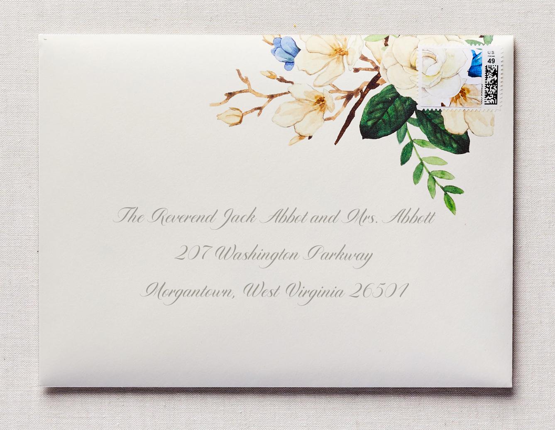 rose watercolor wedding invitation
