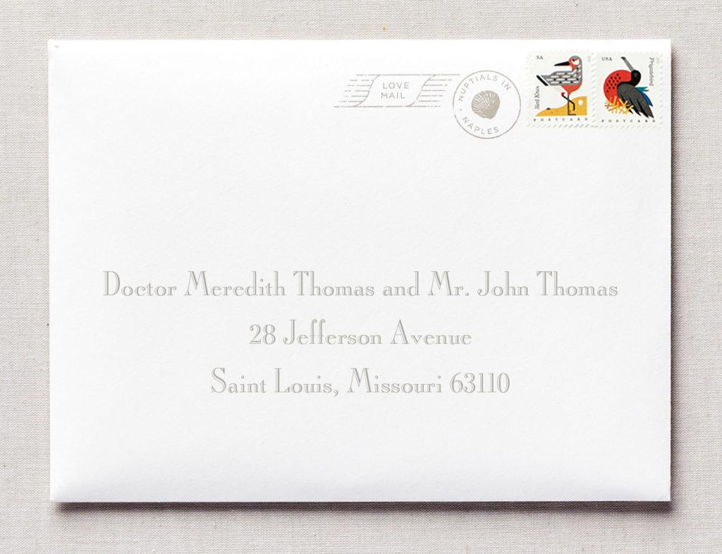 addressing envelopes to doctors