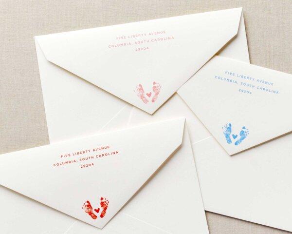 baby announcement envelopes