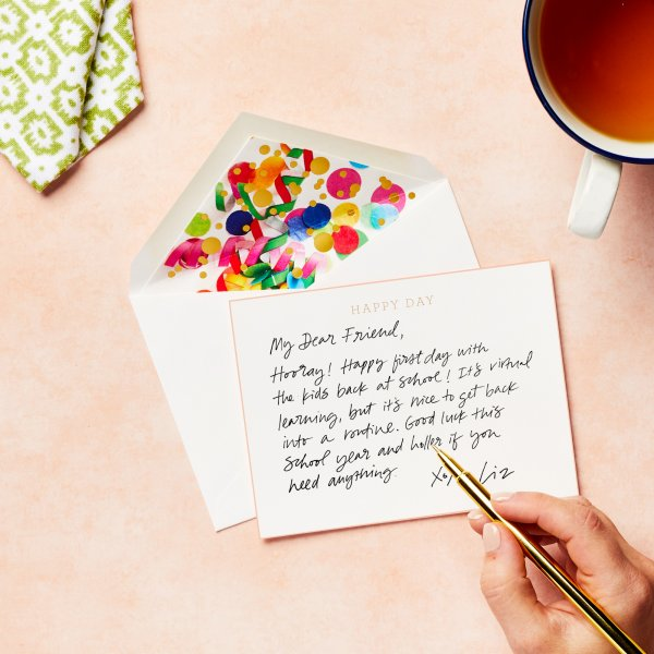handwritten happy day note