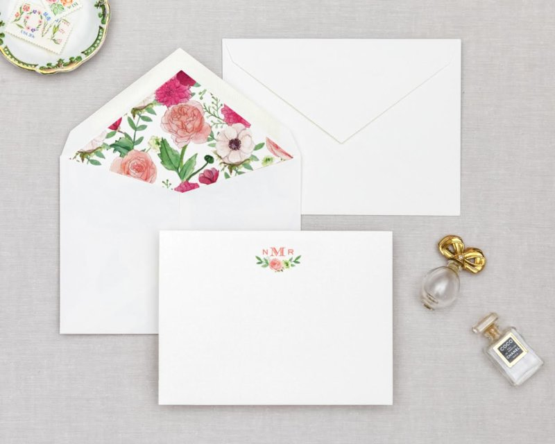 petal perfect personalized stationery