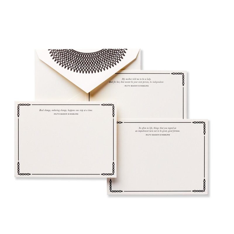 ruth bader ginsburg stationery set