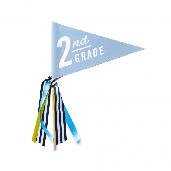 first day of school banner second grade