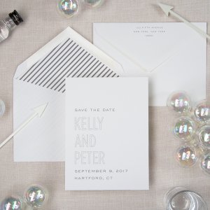 ampersand series modern save the date