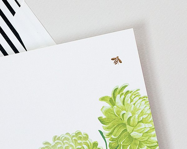gold foil stamped bee