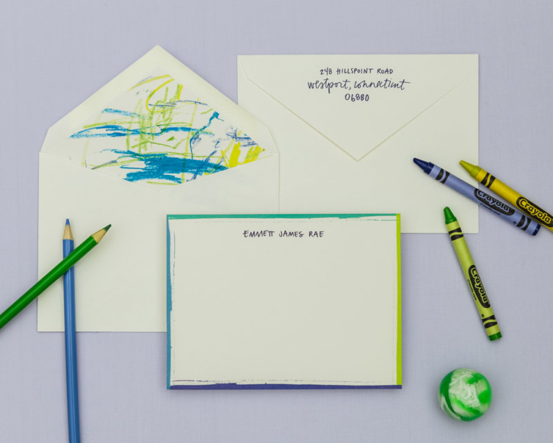 outside the lines personalized stationery