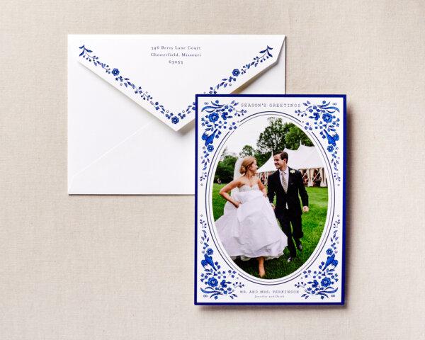 newlywed holiday card