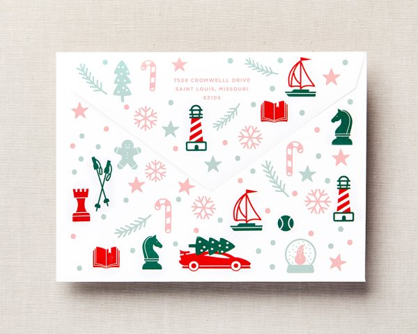 pick your pattern holiday card