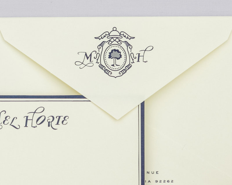 hotel metropol personalized stationery