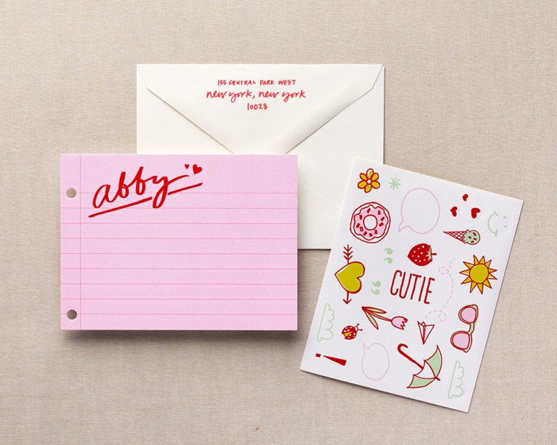 cutie composition kids personalized stationery