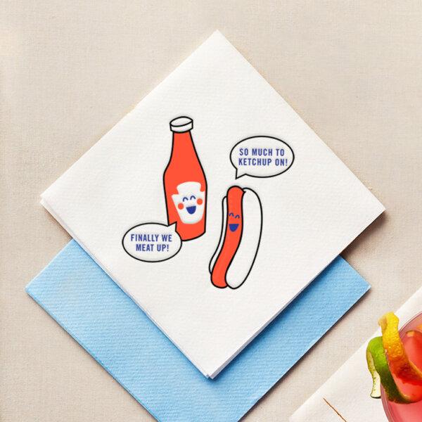 ketchup napkins