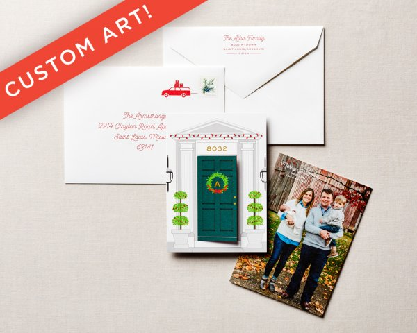 custom house holiday card