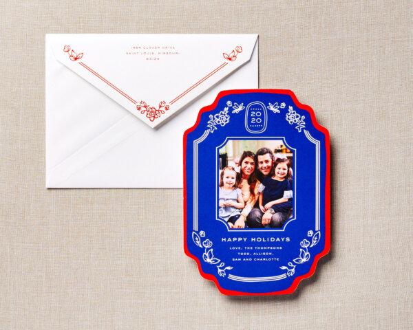 die cut vintage holiday card