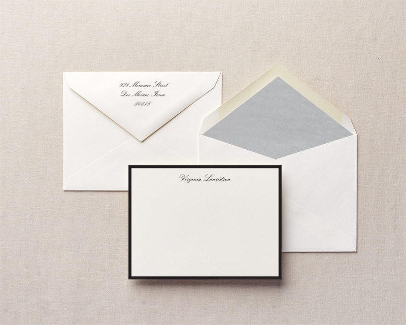 downing street personalized stationery
