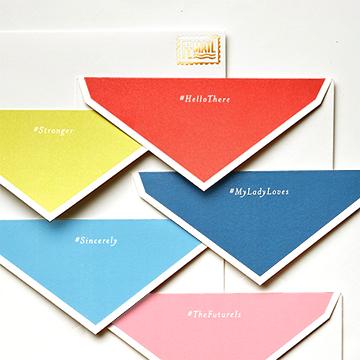 femail boxed stationery set envelope flaps