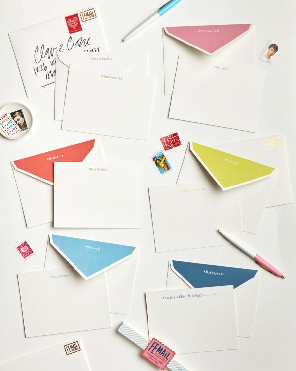 femail boxed stationery set all cards