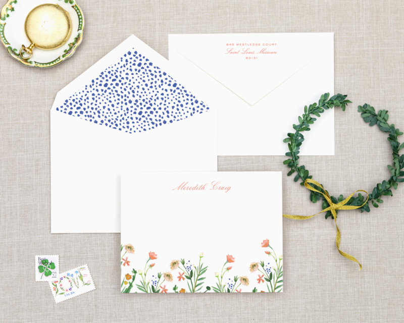 floral finery personalized stationery