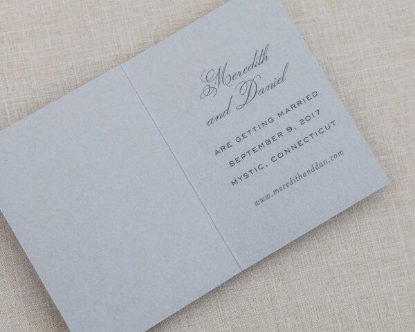 blossom deary gray folded insert card