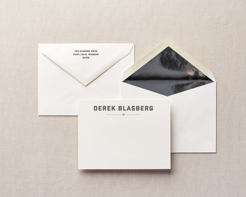 from the mini bar personalized stationery