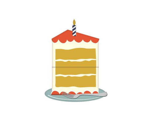 expanding cake birthday card