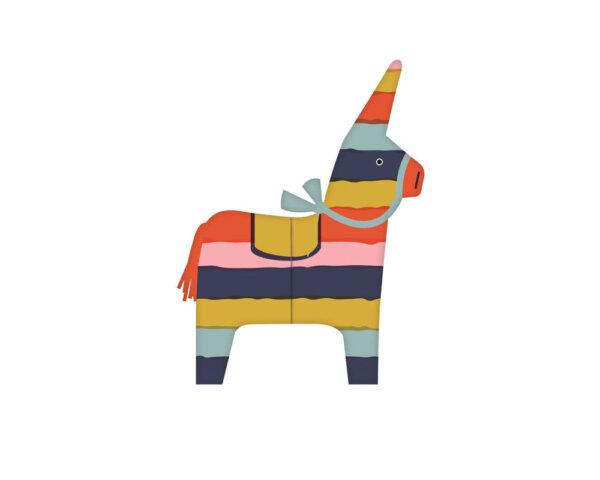 expanding piñata birthday card