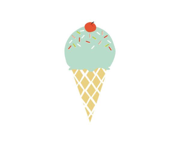 expanding ice cream cone card