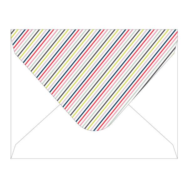striped envelope flap proof