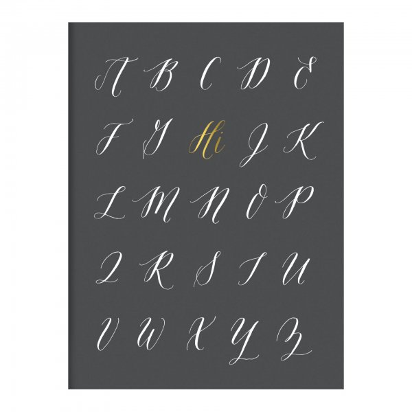 gray gold foil hi card