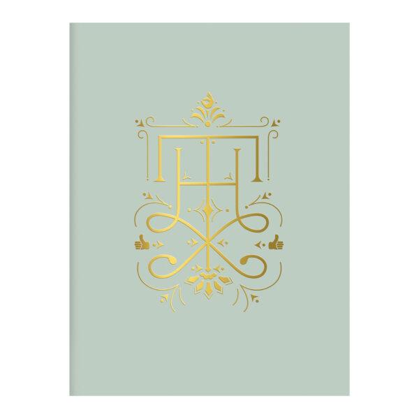 blue gold foil thx card