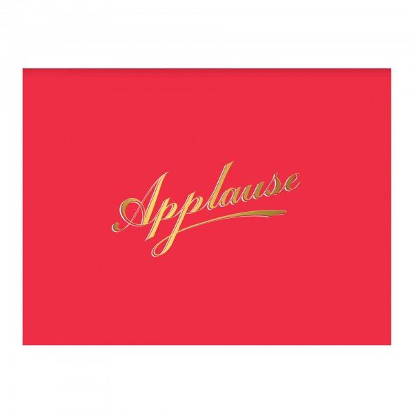 red gold foil applause card
