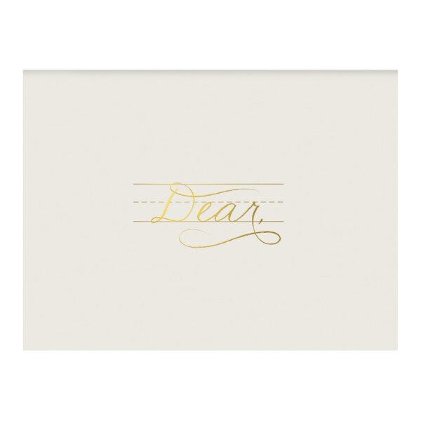 gold foil dear cursive guides card
