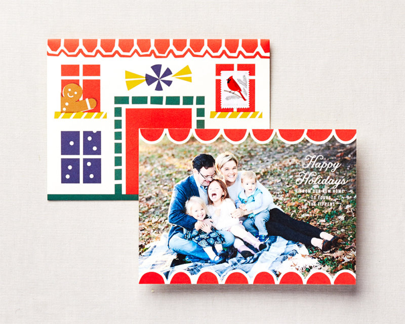 stay home for the holidays personalized holiday card