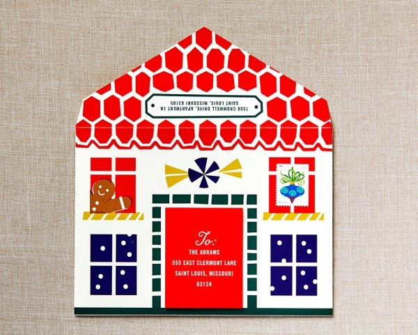 stay home for the holidays envelope