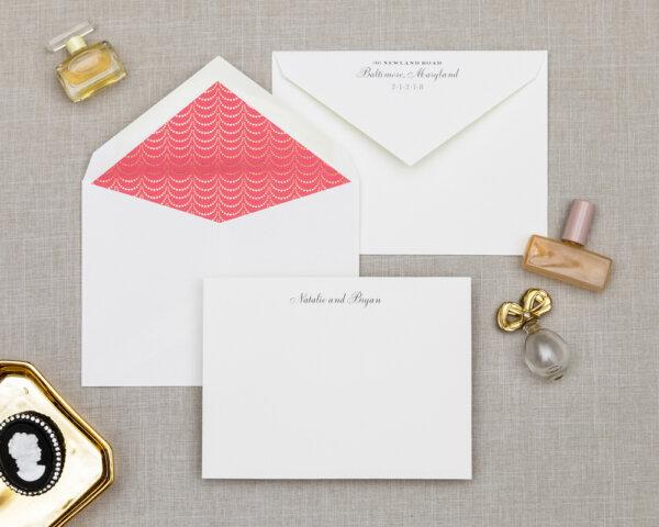 golden garland wedding stationery