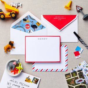 graphic traffic personalized stationery