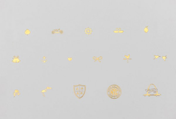 gold foil icon choices