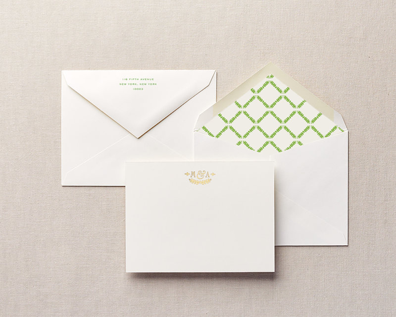 ivy league personalized stationery