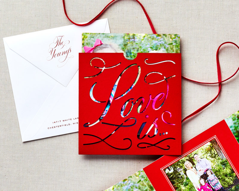 love is... trifold holiday card