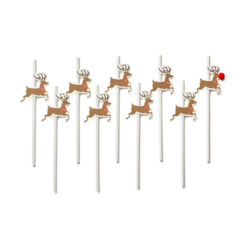 reindeer paper straws