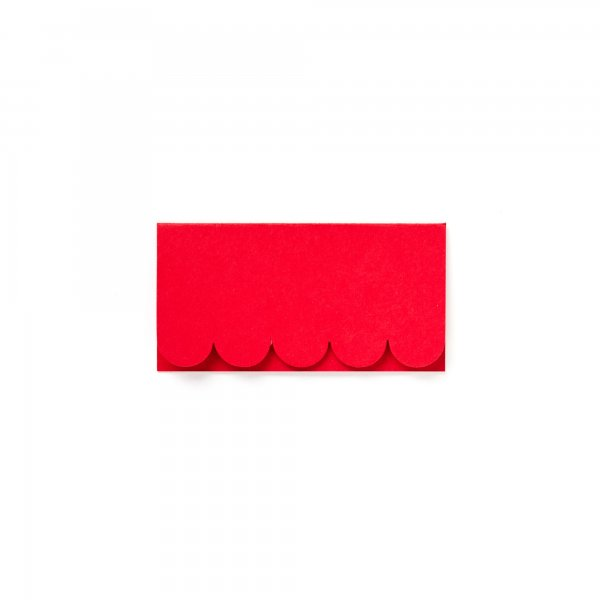 scalloped place card