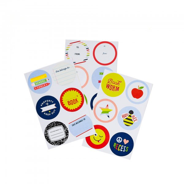 back to school backpack stickers
