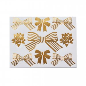 gold bow stickers