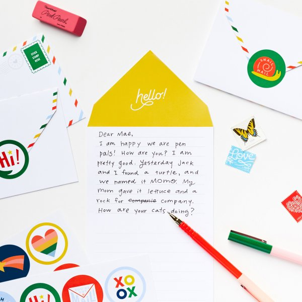 summer stationery letter and envelope in one
