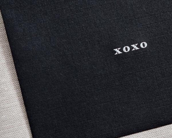 xoxo mini printed linen envelope