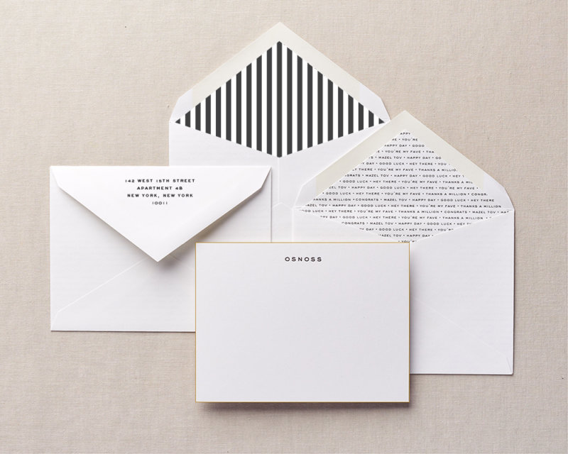 one roof personalized stationery