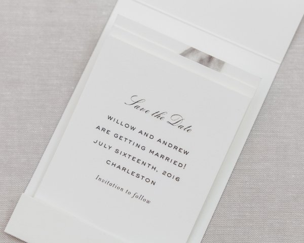 matchbook wedding save the date fold down