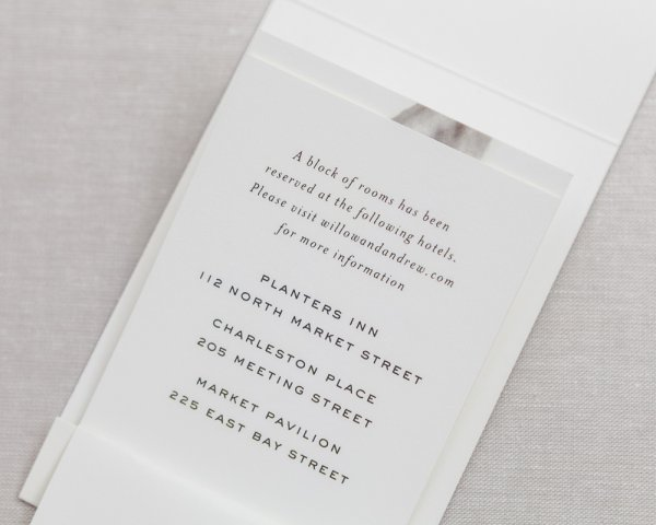 matchbook wedding save the date details page