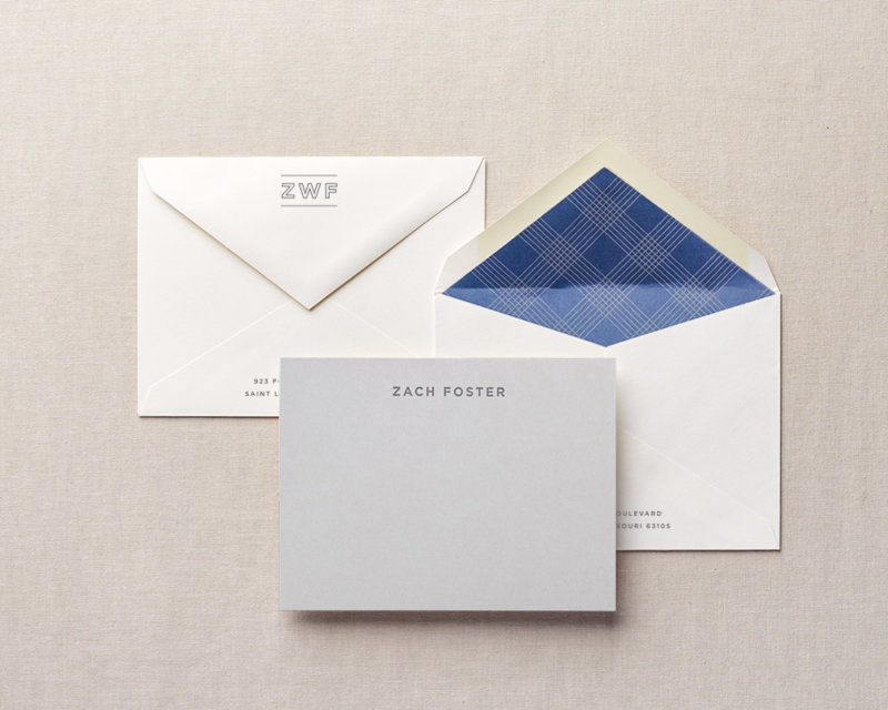 pocket square personalized stationery
